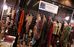 Skeins of handspun art yarn and wearables