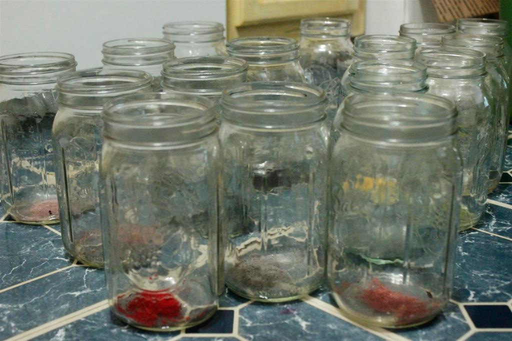 Acid dye in jars