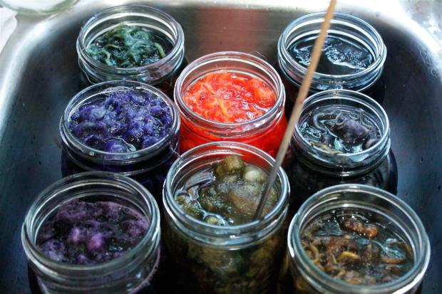 dye jars for solar dyeing