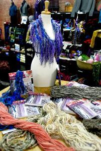 Pluckyfluff and Jazzturtle handspun art yarn