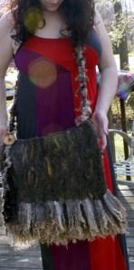 Felted and Handspun bag purse jazzturtle