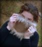 Baby Alpaca and mink yarn cowljazzturtle vithard